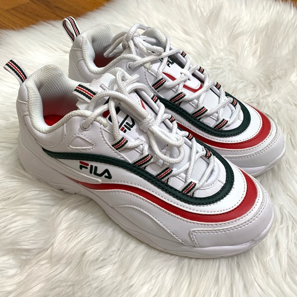 Price Firm Fila Ray White Sycamore Red